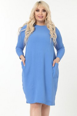 Zila kokvilnas kleita